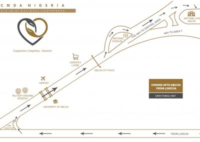 CMDA Nigeria Directional Map Design