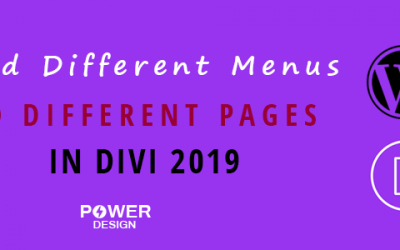 Easiest Way to Add Different Menus to Different Pages in Divi 2019